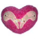 Bantal Love Gliter