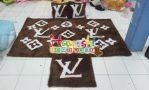 Karpet Set LV Coklat
